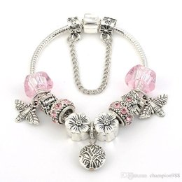 Charm pour 925 Argent Opalescent Enfermé dans l/'amour violet perles Fit Original Chaîne