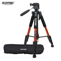 """2019 штативы ZOMEI Q111 142 см / 56"""" легкий портативный 4 цвета камера путешествия штатив с Быстроразъемной пластиной для Canon Nikon Sony DSLR"""