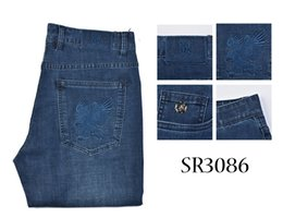 3fa7e8825 Jeans hombres 2019 nuevo estilo de comercio bordado de confort diseñado  libremente pantalón masculino variou tamaño envío gratis