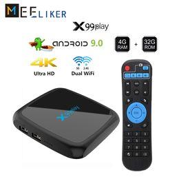 2019 ac hdmi Коробка TV сети 4G 64г Андроид 9.0 смарт-телевизор коробка 2 ГБ 32 ГБ+16 ГБ 2.4 г 5г переменного тока беспроводной H. 265 в 4K ультра медиа-плеер x99play дешево ac hdmi
