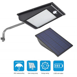 Farola led de alta potencia online-Lámpara solar de calle con luz solar para exteriores con sensor de movimiento LED, luz solar, luces de LED, 11000 mah