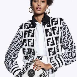 Veste en maille en Ligne-Printemps et automne veste en mohair série F veste à glissière femmes tricoté pull col boucle à boucle personnalisée