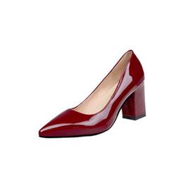 Tiendas de zapatos de boda online-Zapatos de tacón alto de estilo nuevo 2019 con dedos puntiagudos para las mujeres que compran, zapatos de vestir de boda y negocios US4.5 ~ US11