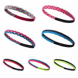 Fascia in silicone per i capelli online-Nuovo calcio Yoga Fascia per capelli antiscivolo in silicone fascia Accessori per capelli fascia sport di tendenza