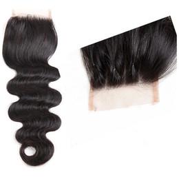 Canada Lala Hair l !!! 4x4 fermeture corps vague péruvienne de cheveux humains Weave vente chaude trois lignes de fermeture Offre