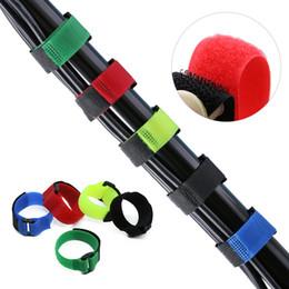 Держатель бинта онлайн-1/5pcs Nylon Fishing Rod Tie Bandage Non-slip Firm Holder Reusable Belt Fishing Accessories Battery Straps Goods For