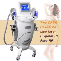 Diodo a vuoto di cavitazione rf online-Nuovo corpo dimagrante Grasso congelamento Cryo Machine Vuoto Cryo cavitazione rf trattamento lifting diodo laser lipo