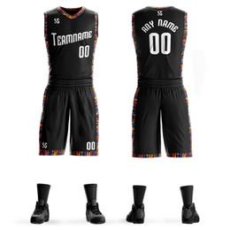 2020 uniformes de basquete universitário Personalizado Mens College Basketball Jersey Define DIY Uniformes Kits Boys Sports roupa respirável personalizado Colégio Equipe Jersseys Basquetebol desconto uniformes de basquete universitário