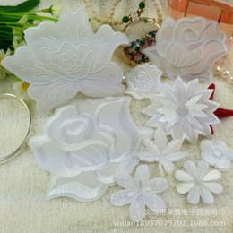 varietà abbigliamento all'ingrosso Sconti 50 pezzi accessori di abbigliamento ricamati abbigliamento hotel openwork fiore panno all'ingrosso bianco puro combinazione varietà di patch di vestiti