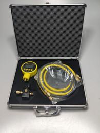 Medidores de pressão de vácuo on-line-Kit de reparo Ac Auto AC Frigorífico Medidor de Pressão VA116 ferramentas de medidor de vácuo digital com caso cary