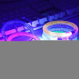 2019 juguete de molino de viento flash Pulsera LED flash de parpadeo resplandor cambiante del color del anillo de acrílico Juguetes para niños lámpara mano luminosa de emisión de luz electrónicos pulsera luminosa Juguetes
