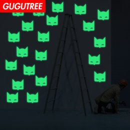 Украсить дом Diy летучая мышь животных мультфильм искусство свечение стикер стены украшения наклейки настенная живопись съемный декор обои G-599 от Поставщики мультфильм бит стены наклейки