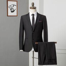 Интервью костюм костюм онлайн-Mens Suits Male Slim fit Suit Male College Student Business Job Interview Professional Dress Dress Best Man Group -Fit 185