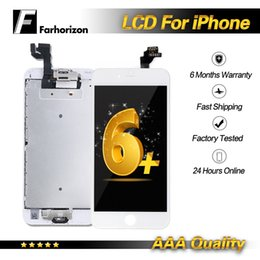 iphone plus screw Promo Codes - For iPhone 6 Plus Full Set LCD Parts Bracket Home Button Flex Front Camera Earpiece Screws Display Touch Screen Digitizer & Free Shipping
