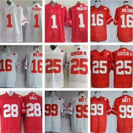 952755f65fe Mens College Wisconsin Badgers Jerseyss 1 PIGGERY 16 Russell Wilson 25  Melvin Gordon III 99 J. J. Watt Football Jerseys
