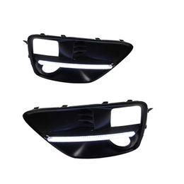 Kits de luzes de nevoeiro para automóveis on-line-Estilo do carro kit drl Para Subaru WRX 2015 2016 Daytime Running Luz Turn Signal Relay Daylight Com Furo de Luz de Nevoeiro