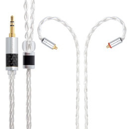 earphone upgrade cable Promo Codes - 8 Cores Pure Silver Cable 3.5 2.5 4.4mm MMCX 2Pin Earphone Upgrade Cable For TFZ KZAS10 ZS10 CCAC16 NICEHCK NX7 M6 F3 NICEHCK 8 Cores Pur...
