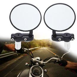 Nouveau 2 Pcs Universel Moto Miroir En Aluminium Noir 22mm Poignée Bar Fin Rétroviseur Rétroviseurs Latéraux Haute Qualité Moteur Accessoires ? partir de fabricateur