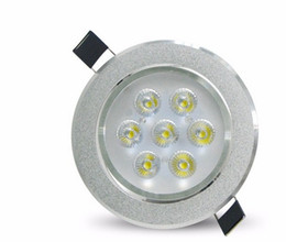 2019 luces empotradas cocina Luces de techo LED Lámpara empotrada redonda 85V-265V Bombilla LED Vestíbulo de la cocina Dormitorio Interior Foco LED Techo LLFA luces empotradas cocina baratos