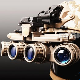 princesa pelo ups Rebajas Caza táctico del casco accesorios GPNVG 18 gafas de visión nocturna NVG del partido Casco Modelo DUMMY Máscaras Accesorios