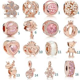 Cavidade de vidro oval on-line-Caber Pandora Ouro oco Beads Rhinestone cristal embutimento Beads DIY Jóias Contas de Vidro Pulseiras para Partido Mulher favorecem presentes
