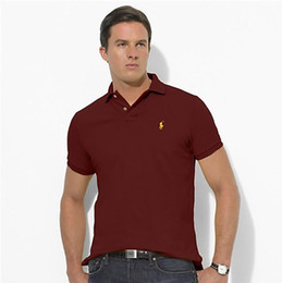 polo sports Promo Codes - Polo Ralph T shirt Lauren brand Tshirt classic embroidery Pony mark T-shirt high quality Tshirts casual sports tee Business polos shirts