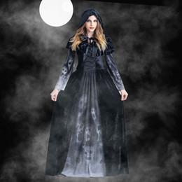 2019 ropa de halloween para mujeres Diseñador de las mujeres del traje de Cosplay de Halloween Mujer vestido de diosa del horror de vestuario temático cráneo del vampiro ropa Cosplay Mujeres rebajas ropa de halloween para mujeres