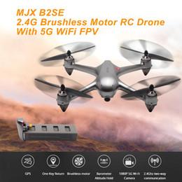 2019 motores quadcopter Mjx b2se rc helicóptero 2.4g motor brushless rc zangão com 5g wifi fpv 1080 p hd câmera gps profissional quadcopter desconto motores quadcopter