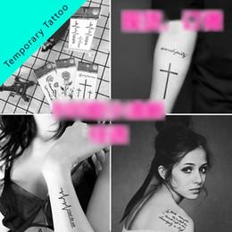 donne sexy tatuaggi per gli uomini Sconti 900 Style Sexy fashion Feather Words Black Lettera modello Temporary Tattoo Ragazzo, ragazza, uomo, donna Finger Body Arm Art Disegni Tattoo Sticker B