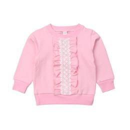 Niños pequeños Ropa de bebé Ropa de manga larga con volantes Top de encaje Camiseta Camisetas Algodón Casual Otoño Ropa de algodón Chica 2-8T desde fabricantes