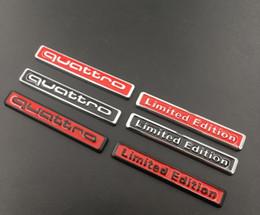 Canada En gros 3D Métal quattro Édition Limitée Auto Autocollant De Voiture Badge Sticker Moto Autocollants Emblème pour audi Suzuki Honda Kawasaki HARL cheap auto emblems wholesale Offre