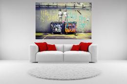 Handpainted rioil boyama Banksy Graffiti Posterler Hayat Kısa Chill Cuadros Boyama HD Baskılar, Ev Dekor Mulit boyutları özelleştirilmiş TY1010.5 nereden