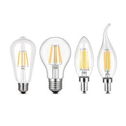 lustres vintage edison Desconto Lâmpada de Filamento de LED E27 Retro Edison Lâmpada 110-220 V E14 Lâmpada de Vela Do Vintage Lustre Incandescente Lâmpada de Filamento