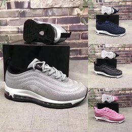 2019 zapatos muy corrientes Nike air max 97 muy caliente Envío gratis 2018 hot New Cheap Children Athletic Boys And Girls Sneakers Kids Sports Running Shoes Tamaño EUR 28-35 rebajas zapatos muy corrientes