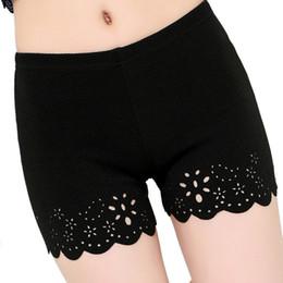 ropa interior fresca de encaje Rebajas Nuevos pantalones cortos de seguridad de verano para mujeres Pantalones cortos de seguridad cómodos Pantalones cortos sin costuras debajo de la falda Hollow Out Lace Underwears
