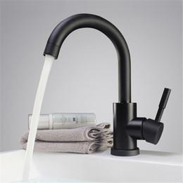 Pia de banheiro de aço inoxidável on-line-Preto e branco cor 304 aço inoxidável polido bacia do banheiro misturador pia dupla torneira da bacia rotativa misturador da cozinha