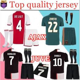 b8a8c5f4f 2019 2020 ajax FC Camisas De Futebol Para Casa kits para adultos + meias  19/20 Personalizado # 7 NERES # 10 TADIC # 4 DE LIGT # 22 ZIYECH Camisa de  Futebol