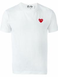 CDG Commes Mens Tasarımcısı T Gömlek oyna Yaz Tees İçin Kalp Spor Tee Gömlek Des Garcons Beyaz Pablo Nakış Gömlek Ücretsiz Teslim Tops nereden