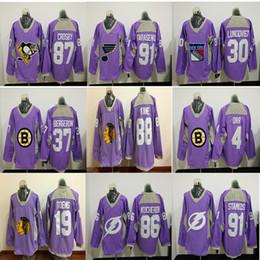 Argentina Boston Bruins Blackhawks contra el cáncer Jersey rosado Chicago Blackhawks Camisetas de hockey sobre hielo 88 Patrick Kane 19 Camisetas de Jonathan supplier chicago ice jersey Suministro
