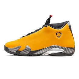shoes 14 running Coupons - 2019 Come Reverse Ferrar Men 14 14s Yellow Basketball Shoes Thunder Last Shot Sports Rip Hamilton retro Mens Trainers Schuhe Zapatos Size 13