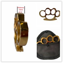 Handtasche goldfarbe online-Neue vergoldete starke 13mm Stahlmessingknöchel-Staubtuch-Farbe GOLD mit Beutel-Überzug-Silber-Handwerkzeug-Kupplungs-Qualität vier Finger Freies Verschiffen