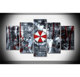 Arte do mal on-line-Resident Evil, 5 Peças Home Decor HD Impresso Modern Art Pintura em Tela (Sem Moldura / Emoldurado)