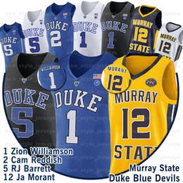 scuola nera degli alti talloni Sconti NCAA 1 Zion Williamson Jersey Duke Blue Devils Antetokounmpo 9 RJ Barrett Lonzo 2 Ball 12 Ja Morant 34 Giannis College Basketball Maglie