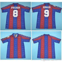 2019 jerseys de epl Camisetas de fútbol tailandesas 96 97 de Ronaldo Retro Camiseta de fútbol local 1996 1997 Maillot de Ronaldo Maillot clásico de pie
