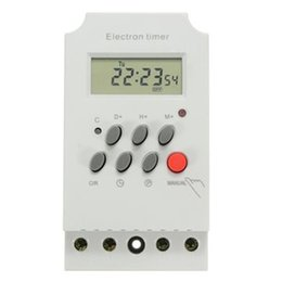 Temporizador electrónico programable online-KG316T-II 220V 25A Din Rail LCD Digital Programable Electronic Timer Switch Digital Timer Controller