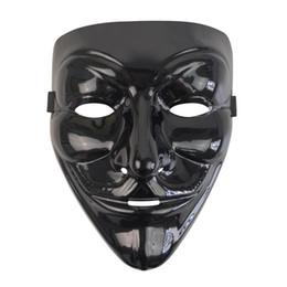 BlackV-forVendett Black con Blood Red Mask PVC Protección contra el medio ambiente explosiones brillante mascarada Bar Party Disco máscara desde fabricantes