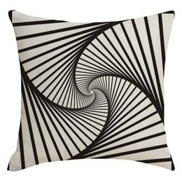 Trampa visual estilo moderno Línea visual desordenada Abrazo Funda de almohada Decoración del hogar 45 cm x 45 cm Funda de almohada cuadrada desde fabricantes