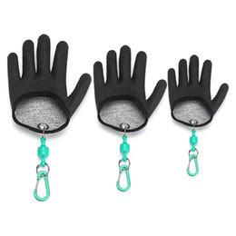 Luvas de Pesca Livre de Pesca Meia Palma Anti-slip Entrega De Segurança Dos Peixes Ímã Liberação Keychain PE Mão Esquerda Mão Direita 5 Levle X521 de