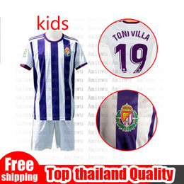 2019 meias verdes escuras Real Valladolid kids kits 19 20 Valladolid Boy futebol sets 2019 2020 Valladolid HOME away Criança Jersey Jaime Mata Michel Borja Camisas