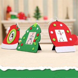 Tavolo per foto online-3 stili foto Folder Fashion Natale Photo Frame multifunzione di alberi ornamentali per la casa decorazioni da tavola di Natale per il partito Festival RRA2241